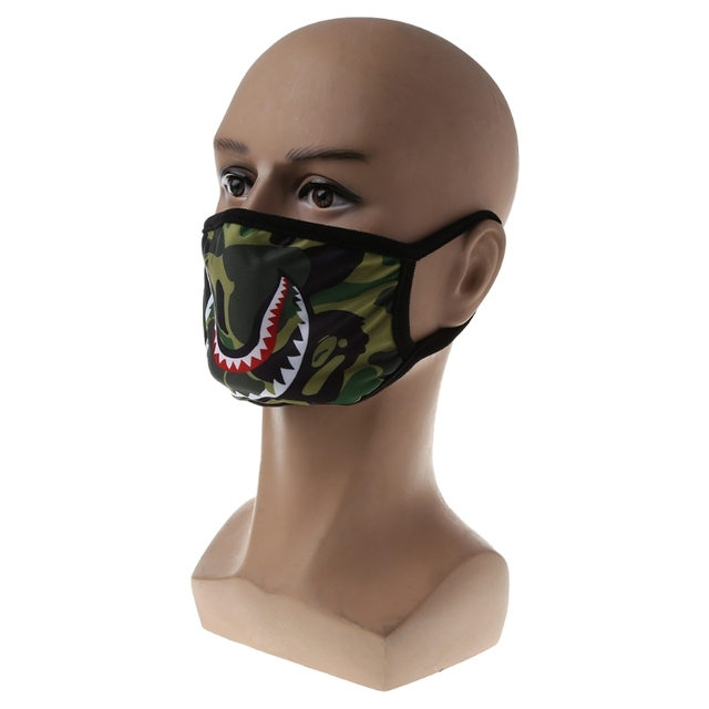 Shark Mouth Anti-Fog Flu Face Masks Unisex  Respirator Mouth-muffle Mask X5XC 4