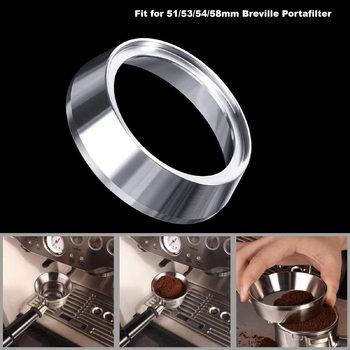 Mugs coffee Espresso Dosing Funnel 304 Stainless Steel Coffee Dosing Ring Compatible with 51/53/54/58 mm Breville Portafilter stainless steel 51mm 53mm 58mm coffee powder ring intelligent dosing espresso barista bowl funnel portafilter coffee accessories