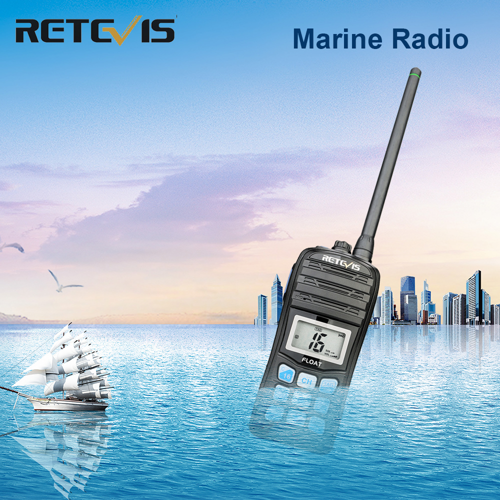 RETEVIS RT55 Professional VHF Marine Radio Float Walkie Talkie Waterproof Two-way Radio NOAA Weather Alert 5W Marine VHF Radio