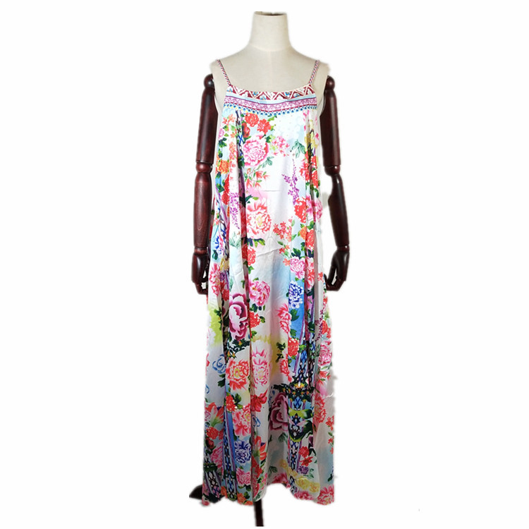 Summer Dress 2019 Women Floral Print Beach Long Dress Boho Sexy Maxi Dresses Woman Party Night Elegantes Robe in Cover Ups from Sports Entertainment
