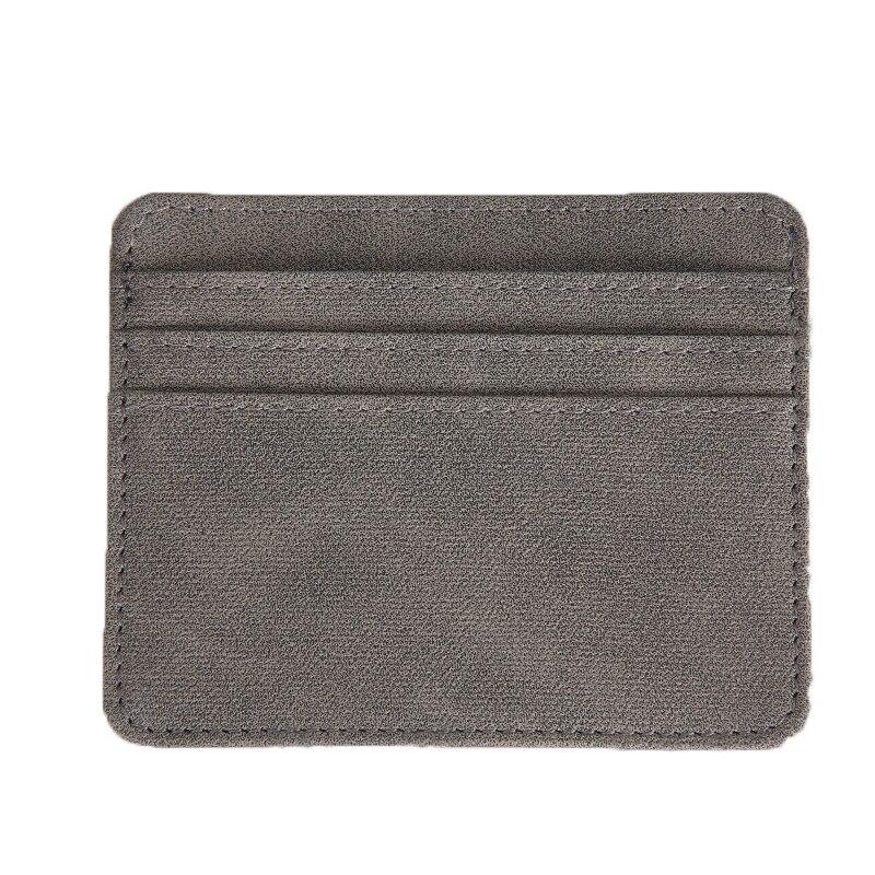 Nouveau mince porte carte bancaire solide carte de crédit cartes d'identité pièce pochette sac portefeuille organisateur femmes hommes mince carte de visite portefeuille
