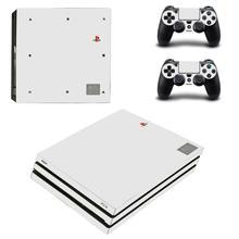 20th anniversaire blanc pur PS4 Pro autocollant de peau vinyle pour Sony Playstation 4 Console et contrôleurs PS4 Pro autocollant de peau