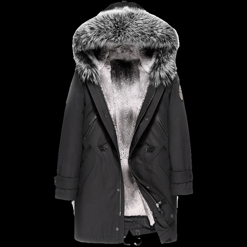 Men's Winter Jacket Real Coat Natural Rabbit Parka Men Clothes 2020 Mens Luxury Fur Warm Jacktes Plus Size JS15 YY231