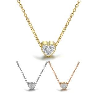 Новое модное ожерелье с кулоном в виде сердца, женское ожерелье из нержавеющей стали, ювелирные изделия для девушек, оптовая продажа