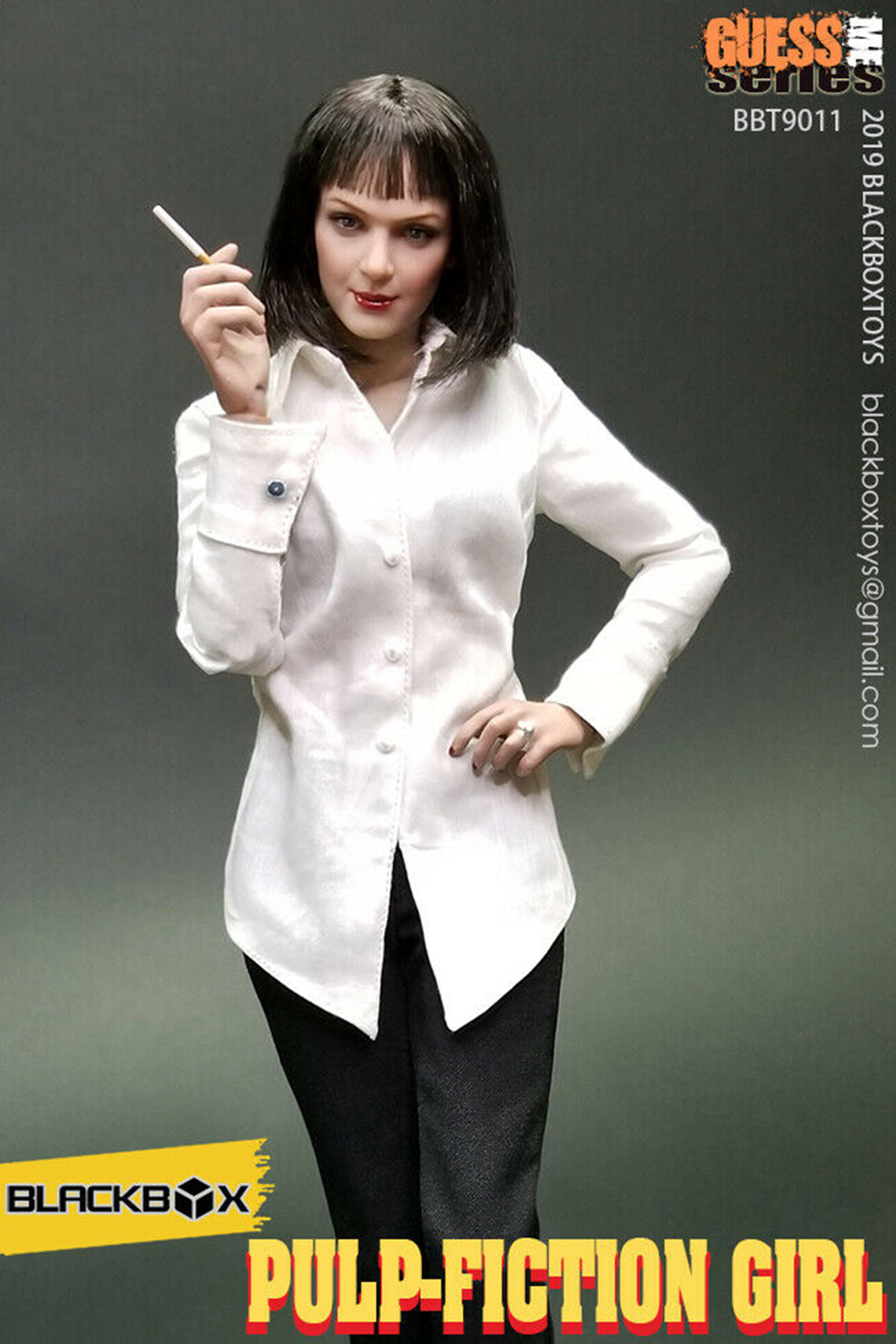 Full set doll for collection Pulp Fiction Girl Mia Wallace 1/6 Female Figure Body Toys BBT9011 Acces 1