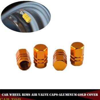 4 piezas tapas de neumáticos de válvula tapas de neumáticos tapas de rueda de Moto Tapa de válvula de rueda de coche de aluminio a prueba de ftproof tapas de válvula de aire