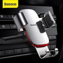 Baseus-Soporte de teléfono Gravity para coche, con rotación de 360 grados, con ranura para CD, para iPhone y Samsung