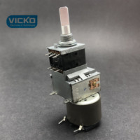 [VK] Japan ALPS 50KAX2 A50K shaft 25MM 18 motor dual double potentiometer A50KX2 handle length 25MMF switch