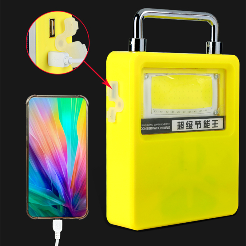Solar Light LED Work Light Portable Camping Lamp USB Solar Powered Work Light For Security Ligthing Solar Garden Light