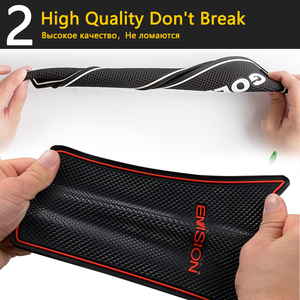 Image 4 - Anti Slip Rubber Cup Cushion Door Groove Mat for Chery Tiggo FL T11 facelift 2011~2015 2012 2013 2014 Accessories mat for phone