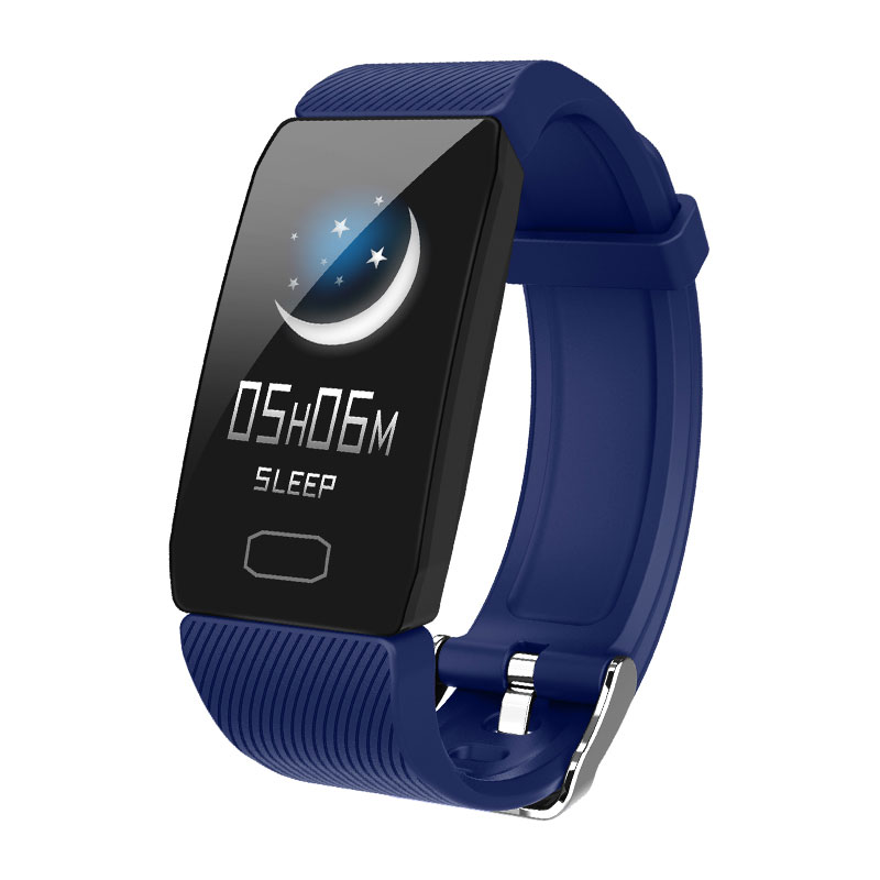 H71fca6a76aca428080e9c039c171f3c1U Fitness Bracelet Blood Pressure 1.14'' Screen Fitness Tracker Smart Watch Waterproof Smart Wristband Weather Display Women Men