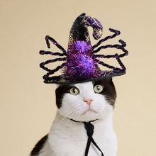 Halloween Party Hat Decoration Christmas Pet Cat Dog Pumpkin Spider Small Dogs Product Cute Funny Cosplay Gift