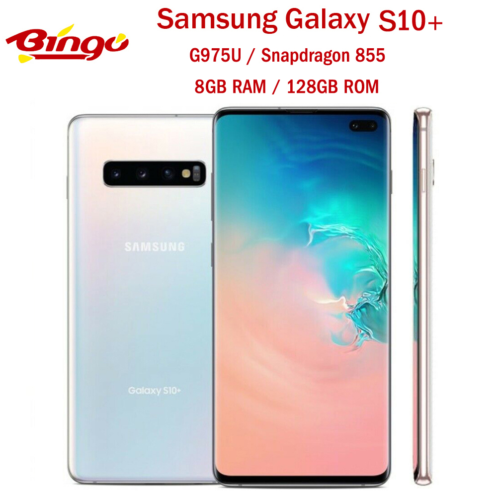 "Samsung Galaxy S10+ S10 Plus G975U 128GB Unlocked Mobile Phone Snapdragon 855 Octa Core 6.4"" 16MP&Dual 12MP 8GB&128GB ROM NFC(China)"