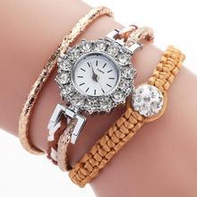 Elegant Temperament Bracelet Wristwatch Environmental Protection and Non-fading Women Casual Quartz