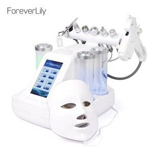 Image 1 - 8 In 1 Hydra Dermabrasie Machine Rf Ultrasone Facial Water Jet Diamant Peeling Microdermabrasie Huid Fleuren Draai Apparaat