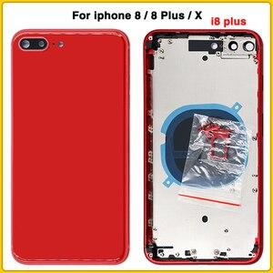 Image 2 - Cho iPhone 8 8G 8 Plus 8 P Lưng Pin Cửa Sau + Trung Khung + Khay Sim mặt Khóa Phần Dành Cho iPhone X Vỏ Ốp Lưng