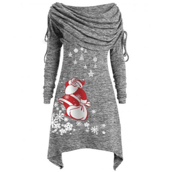 Long Sleeve Casual Print Dress Women Nightmare Before Christmas Dress Plus Size S-5XL Womens Clothing 2019 SJ4626V 2