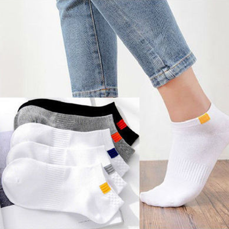 10pieces=5pair/lot Summer Cotton Man Short Socks Fashion Breathable Man Boat Socks Comfortable Casual Socks Male white hot