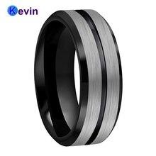 Обручальное кольцо 8 мм для мужчин и женщин вольфрамовое удобное