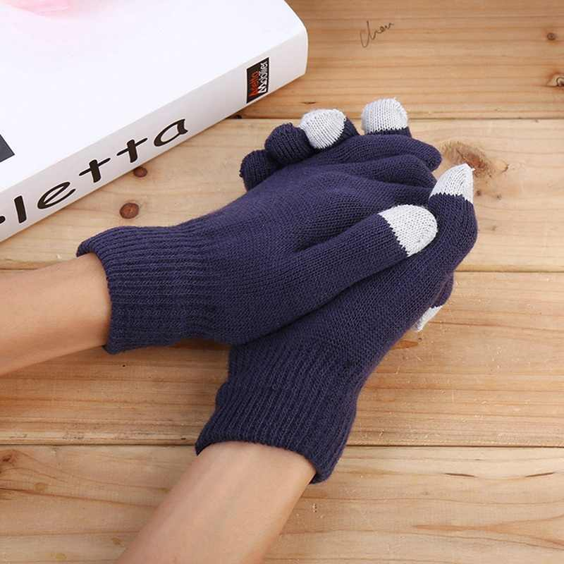 Unisex Winter Warm Capacitive Knit Gloves Hand Warmer For Touch Screen Smart Phone