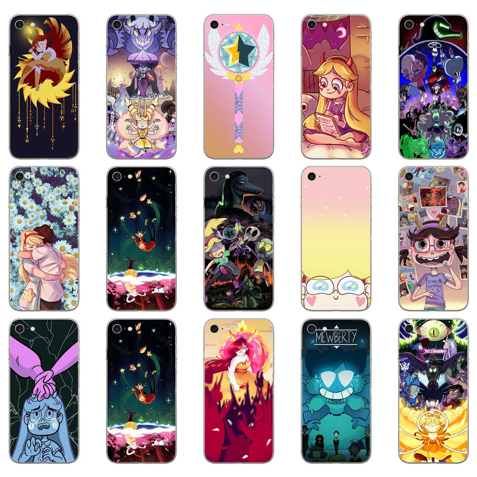 226DD Star vs the Forces of Evil Мягкий силиконовый чехол для iPhone 5 5S SE 6 6s 8 plus 7 7 Plus X XS SR MAX чехол