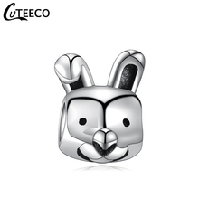 CUTEECO Cute Rabbit DIY Alloy Animal Series Beads Fit Pandora Charm Bracelet For Women Jewelry Accessories Wholesale