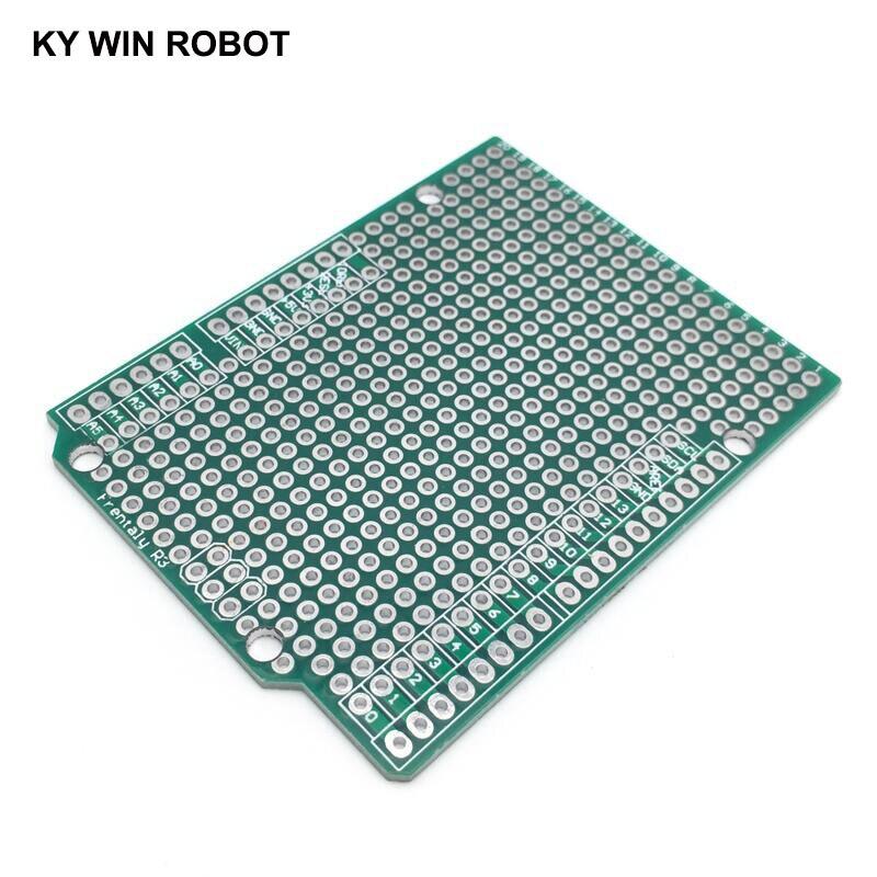 1 pcs Prototype PCB Board For Arduino UNO R3 ATMEGA328P Shield Board Breadboard Protoshield DIY FR4 2.54mm Pitch Thickness 1.6mm
