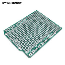 1 шт. Прототип печатная плата плата для Arduino UNO R3 ATMEGA328P щит плата макет Protoshield DIY FR4 2,54 мм шаг толщина 1,6 мм