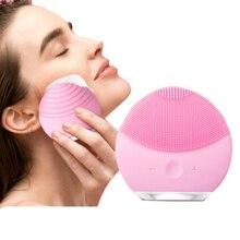 Очищающая щетка для лица, звуковая вибрация, мини очиститель для лица, силиконовая, Глубокая очистка пор, электрическая, водонепроницаемая, массажная, мягкая