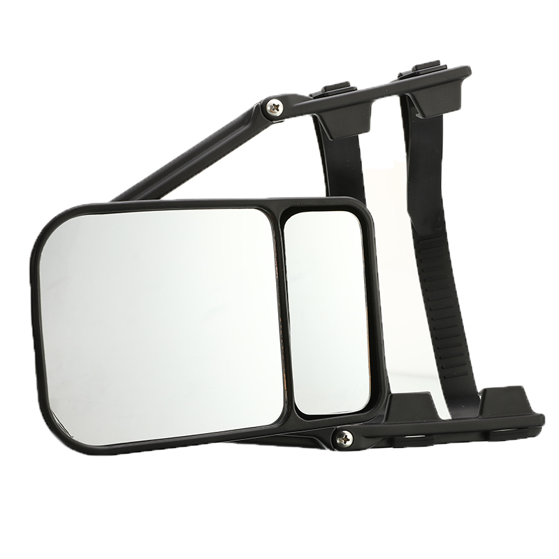 High Quality Adjustable Trailer Towing Dual Mirror Car Clip-on Side Wing Mirror Extension Towing Mirror Glass For Auto Caravan