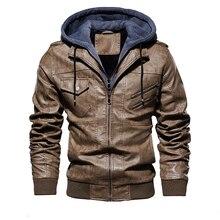 Модные мотоциклетные кожаные куртки мужские осень зимние кожаные куртки дропшиппинг европейский размер
