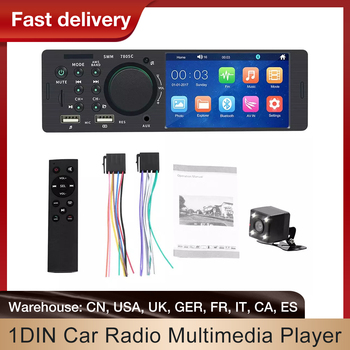 Car Multimedia Player Touch Screen Stereo FM Radio Bluetooth MP5 Player Car Digital 1Din Car Multimedia Player Rear View Camera image