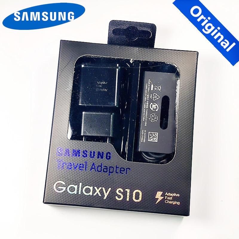 Original ue samsung S10 chargeur rapide USB adaptateur de charge rapide Type C câble pour samsung Galaxy S10 Plus E S8 S9 Plus Note 8 9 A8s
