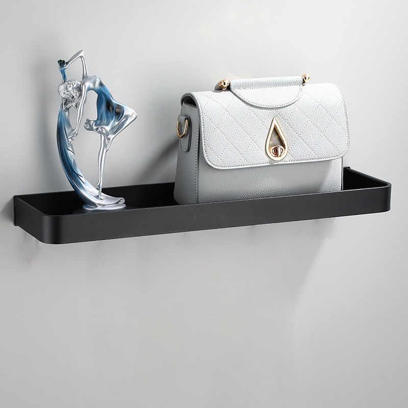 Étagère de salle de bain-douche en aluminium | Noir, étagère d'angle de salle de bain, montage mural, rangement pour cuisine