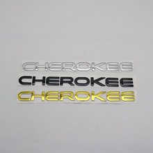 For Jeep Cherokee Emblem Logo Sticker 3D Letter Word Rear Trunk Car Body ABS Chrome Nameplate Auto Badge Decal