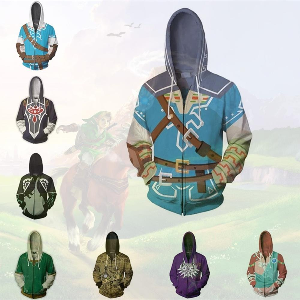 Anime Hoodies Sweatshirts The Legend Of Zelda Majora's Mask Cosplay Costume Men Top Jackets