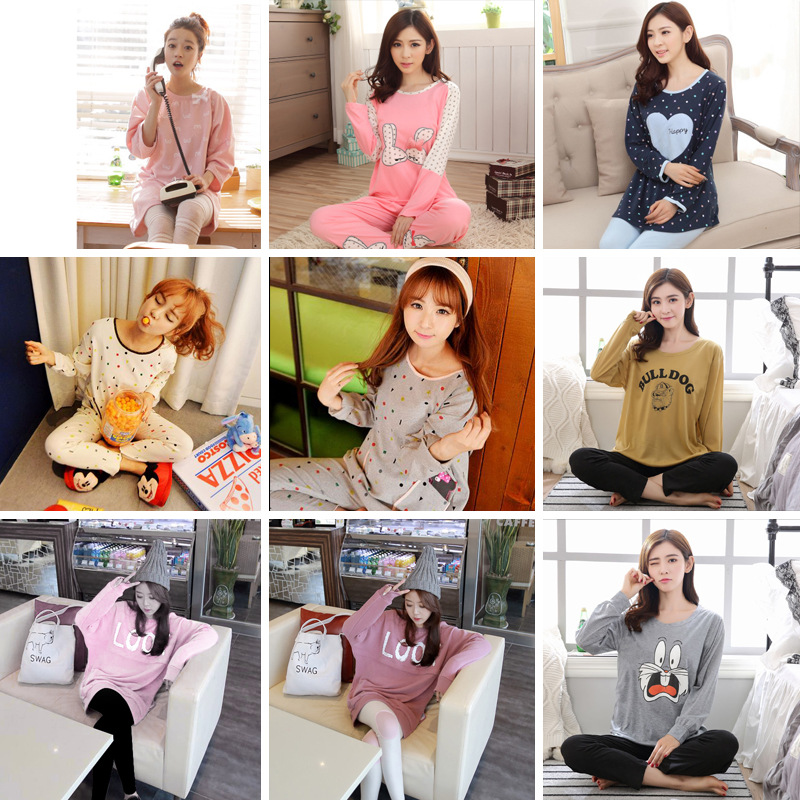 Pajamas Women's Coral Velvet Lace Japanese Korean Palace Style Flannel Pajamas Padded Large Size Hoodie Women's Spring And Autum