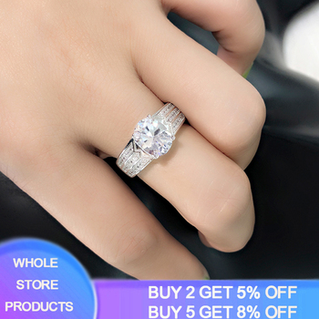 YANHUI Oval Finger Ring Band Dazzling Brilliant 3.0CT Lab Diamond Silver 925 Ring Classic Wedding Anniversary Gift For Wife&Girl