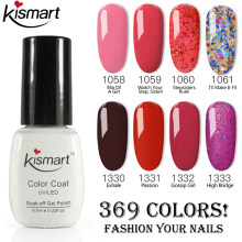 2019 Baru Kismart Gelpolish Good UV/LED Nail Gel Polish Rendam Off Gel Kuku Kuku Manikur Gel Polandia Gel untuk Kuku Seni Salon(China)