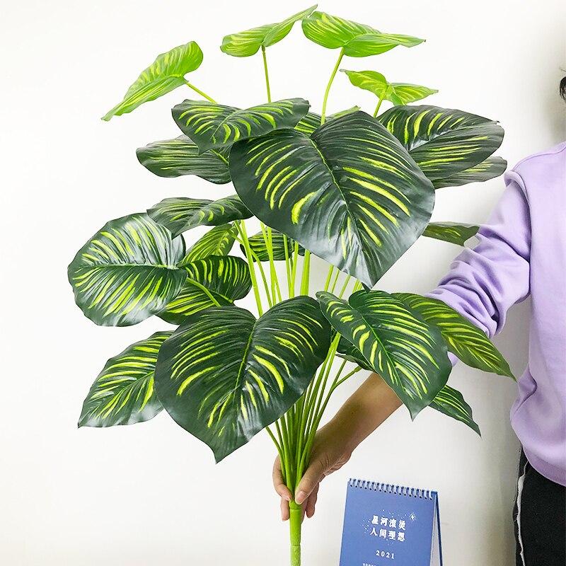 Купить 75 см 24 головы тропические искусственные растения большие monstera