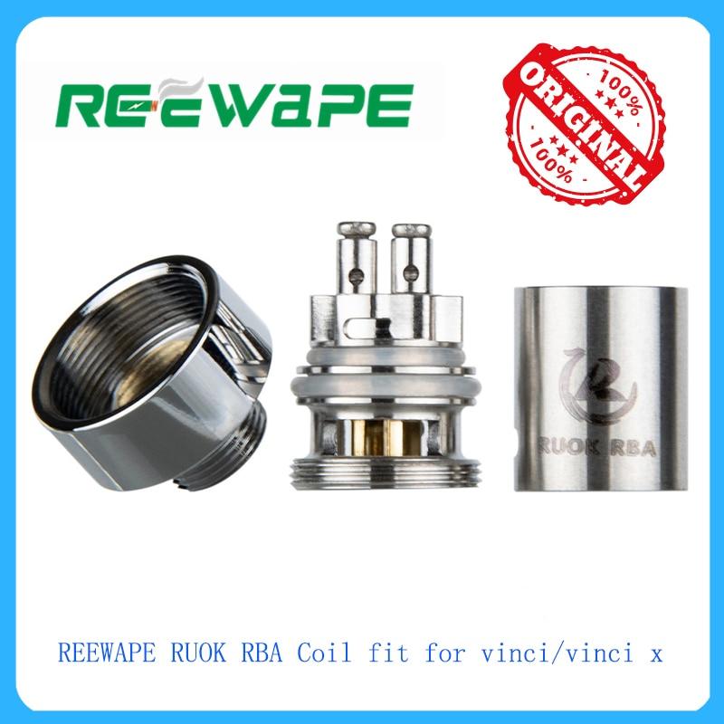 Hot Original 1pcs REEWAPE RUOK RBA Coil Fit For Vinci/vinci X Electronic Cigarette Vape Kit Vape Accessory