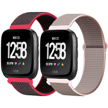 Strap for Fitbit Versa/Lite/Versa2 band Smart watch replacment wristband Sport nylon Loop Bracelet Fitbit Versa 2 band