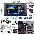 7 дюймов 2 din car Android 10 Bluetooth мультимедийное радио плеер для Ford Focus 2Din рамка для C-Max S-Max Fusion транзит Fiesta использования