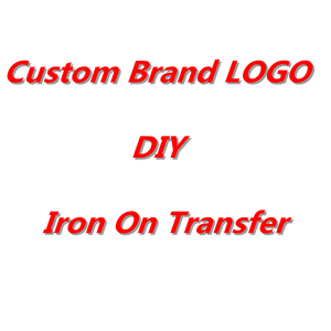 Iron On Transfers Custom Brand LOGO Heat Transfers PVC Patch For Clothing DIY Thermal Transfer Heat Vinyl Ironing Stickers Decor