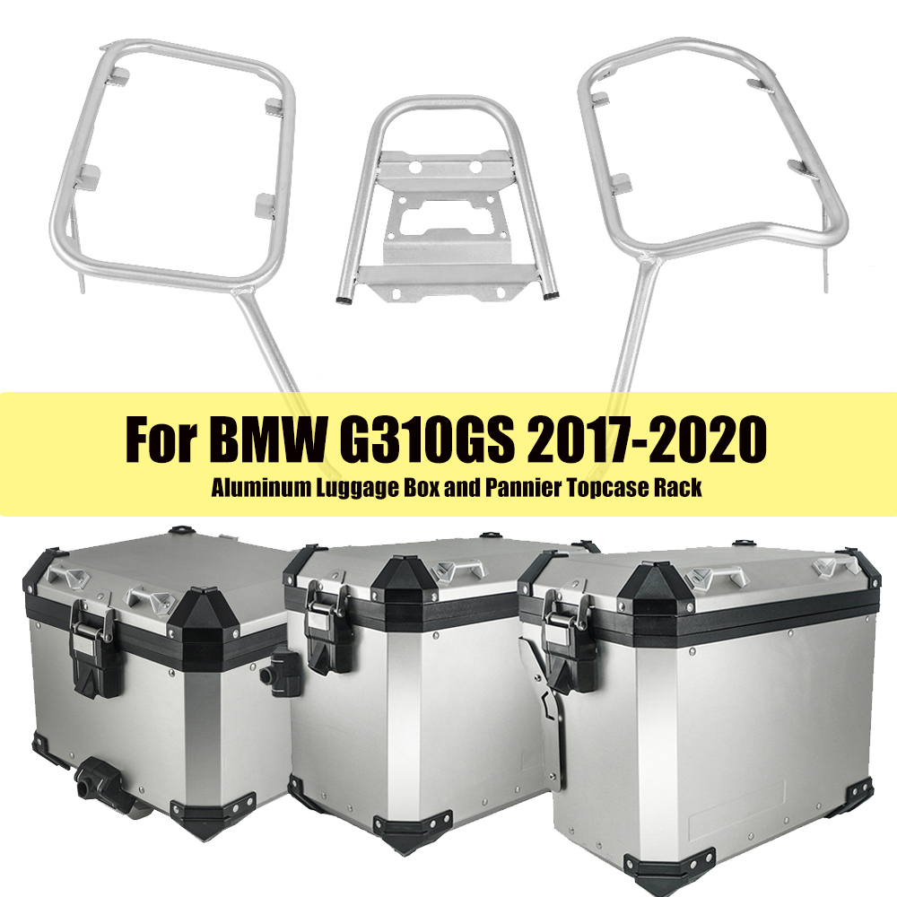 For BMW G310GS G 310 G310 GS 2017 2018 2019 2020 Motorcycle Aluminum Luggage Box Saddlebag Panniers Top Case Rack Steel Bracket
