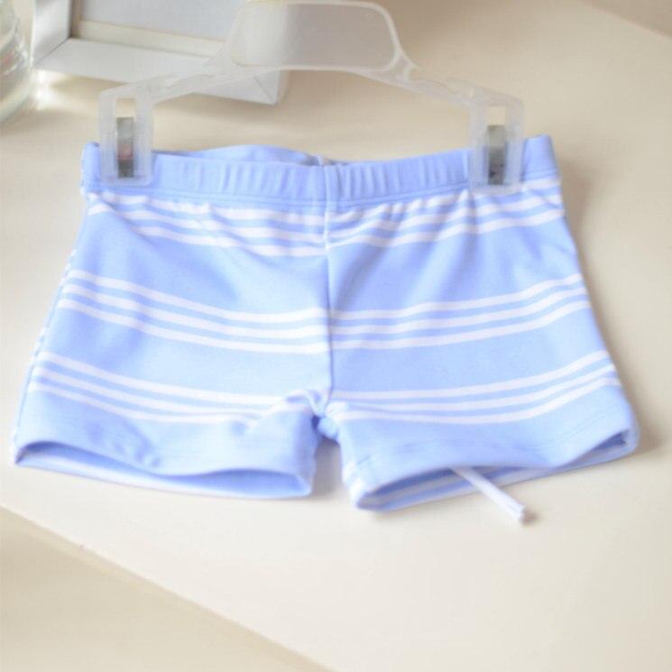 Micro CHILDREN'S Swimming Trunks Small Children Simple Refreshing Bluish Purple Wide Stripe AussieBum