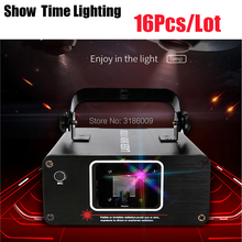 цена 16Pcs/Lot home party DJ Laser Projector scanner Line Laser dmx rgb Stage Effect Lighting for Disco Xmas Party онлайн в 2017 году