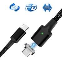5А Магнитный usb type-C кабель PD провод для быстрой зарядки USB C кабель быстрой зарядки для Macbook Pro type-C Кабо Для samsung S10 Xiaomi