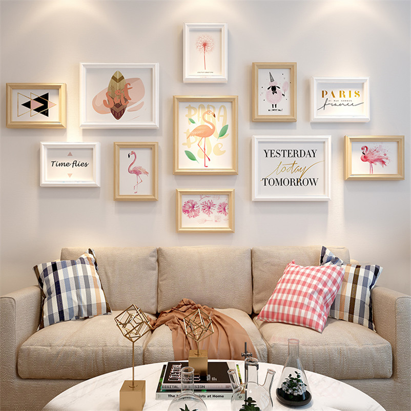 Wall Decor 11pcs Lot Picture Frame Set Creative Wooden Photo Frames Home Decoration Accessories Wood Gift For Friends Aliexpress