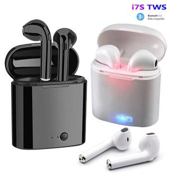 I7s tws słuchawki bezprzewodowe Bluetooth 5 0 słuchawki sportowe słuchawki douszne zestaw słuchawkowy z mikrofonem etui z funkcją ładowania słuchawki dla wszystkich smartfonów tanie i dobre opinie XCZJ Wyważone Armatura CN (pochodzenie) wireless 123dB 30mW Do Internetu Bar Do Gier Wideo Wspólna Słuchawkowe Dla Telefonu komórkowego
